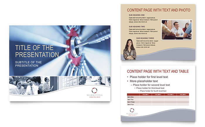 marketing consulting group powerpoint presentation template design, Presentation templates