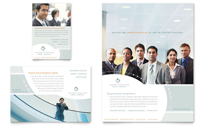 Business consulting flyer ad template design for Consulting website