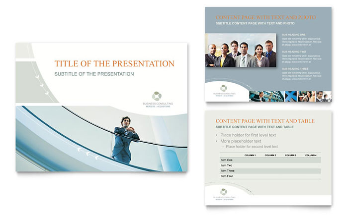 business consulting powerpoint presentation template design, Presentation templates