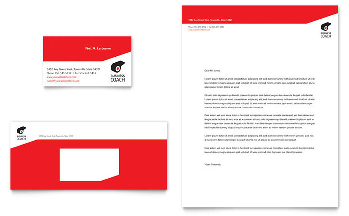 Business Executive Coach Business Card & Letterhead Template Design Download - InDesign, Illustrator, Word, Publisher, Pages