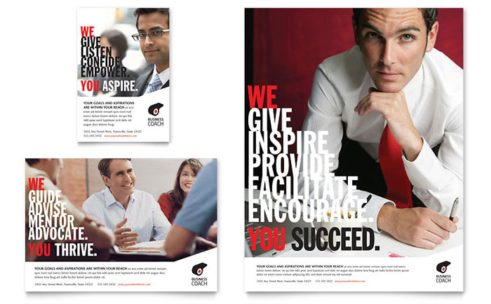 business executive coach flyer ad template design