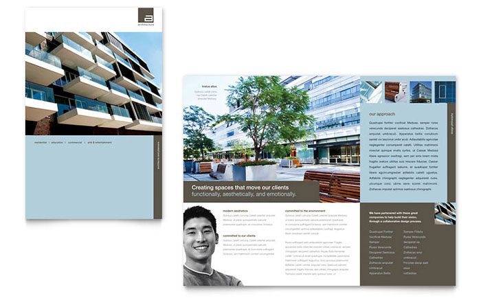 architect brochure template design, Presentation templates