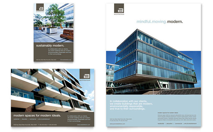 architect flyer & ad template design, Presentation templates