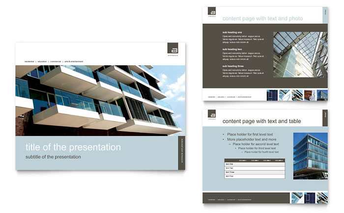 architect powerpoint presentation template design, Presentation templates