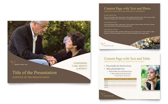 Memorial Funeral Program Powerpoint Presentation Template Design