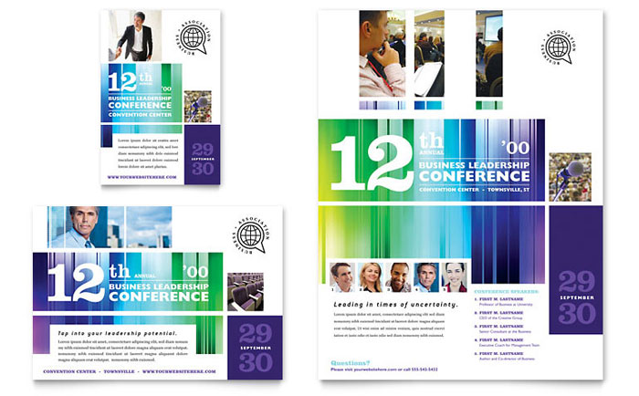 Business Leadership Conference Flyer Ad Template Design – Conference Flyer Template