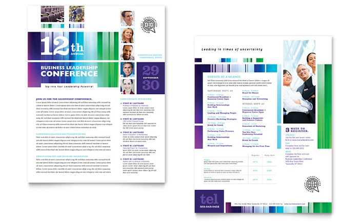 Business Leadership Conference Brochure Template Design
