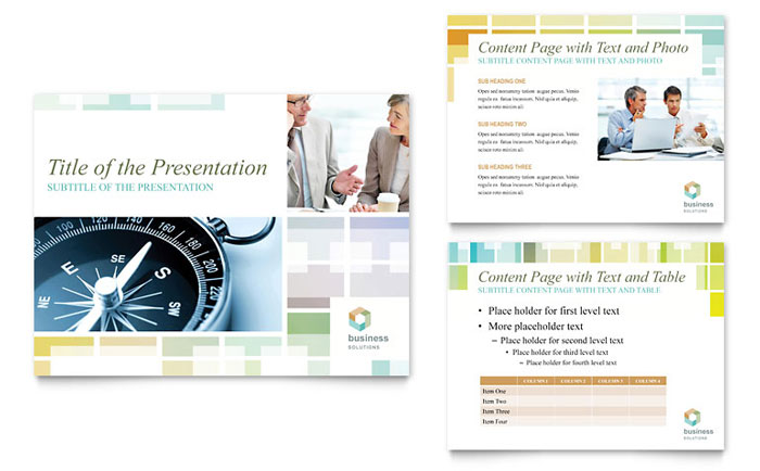 Business Solutions Consultant PowerPoint Presentation Template Design