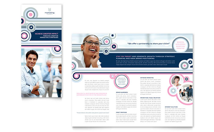 Marketing Agency Tri Fold Brochure Template Download - InDesign, Illustrator, Word, Publisher, Pages