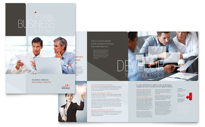 Corporate business brochure template design wajeb Image collections