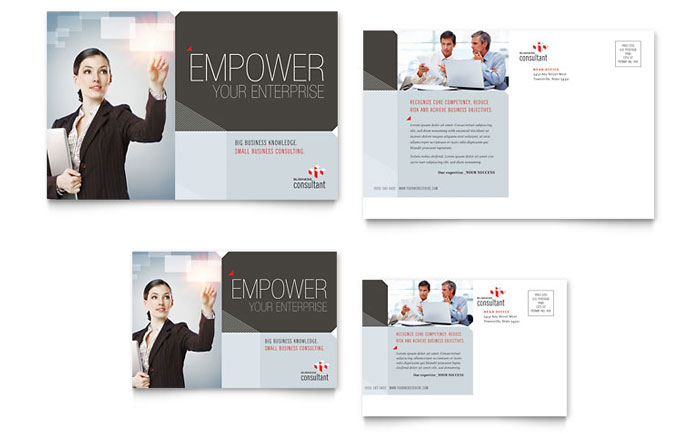Corporate Business Postcard Template Design