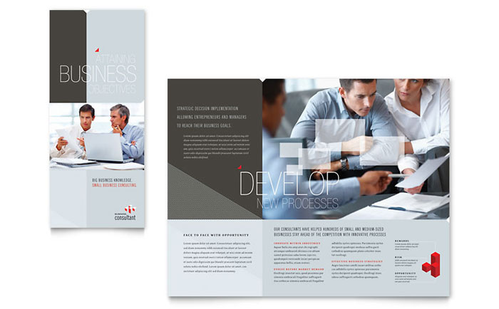 Corporate Business Tri Fold Brochure Template Design