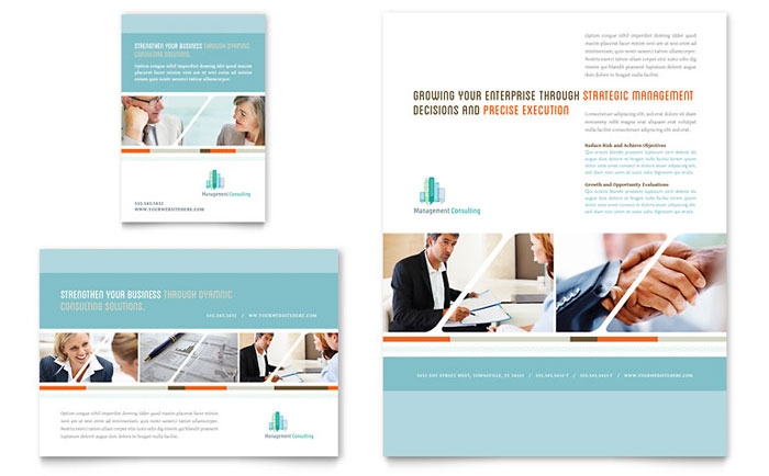 management consulting flyer  u0026 ad template design