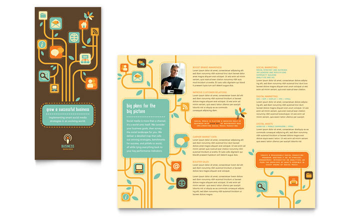 Business Consulting Tri Fold Brochure Templates Professional - Tri fold school brochure template