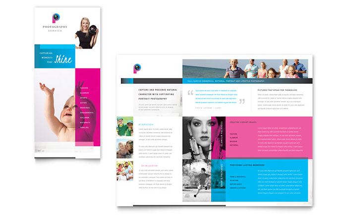 Photography business brochure template design wajeb Gallery
