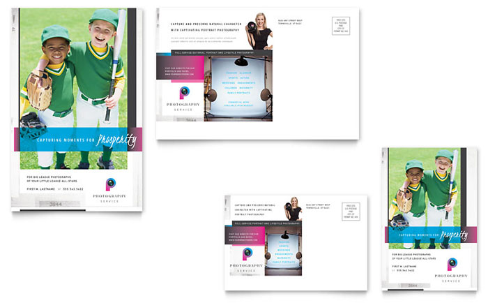 Photography Business Postcard Template Download - InDesign, Illustrator, Word, Publisher, Pages