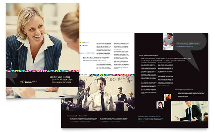 Human Resource Management Brochure Design