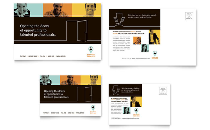 Business consulting postcards templates graphic designs recruiter postcard corporate business postcard template wajeb Gallery