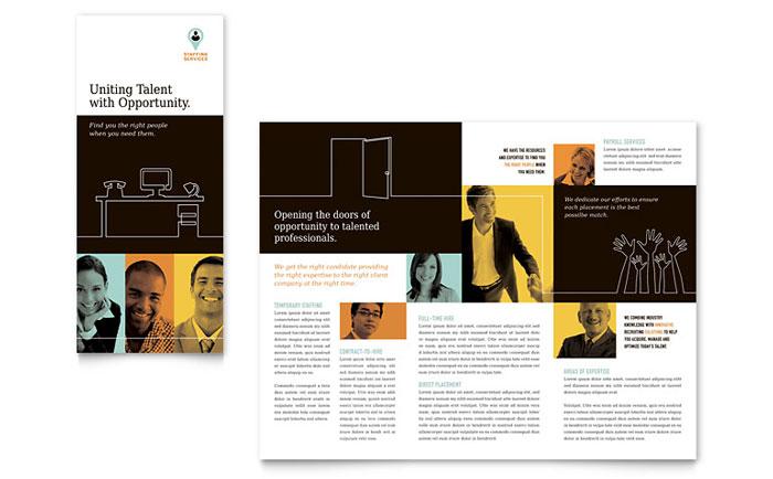 recruiter tri fold brochure template design