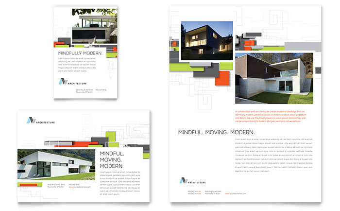 Architectural design flyer ad template design for Copy architectural plans