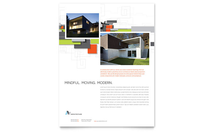 Architecture Design Template architectural design flyer template design