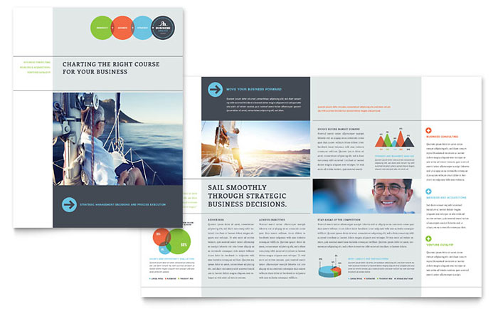 business analyst brochure template design