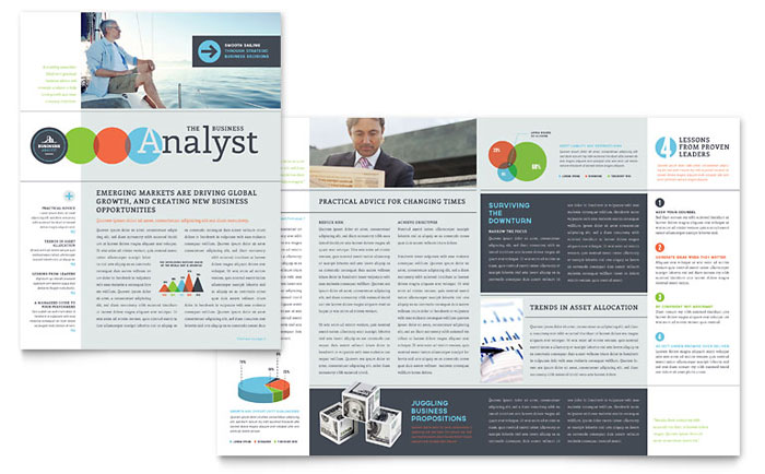 Business Analyst Newsletter Template Design – Corporate Newsletter Template