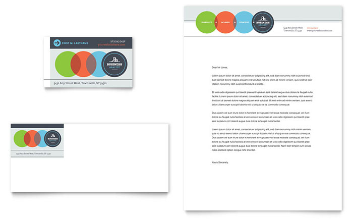 Business analyst business card letterhead template design wajeb Gallery