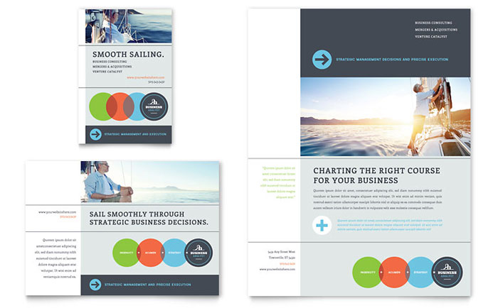Business analyst flyer ad template design wajeb