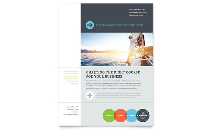 Business analyst flyer template design flashek Gallery