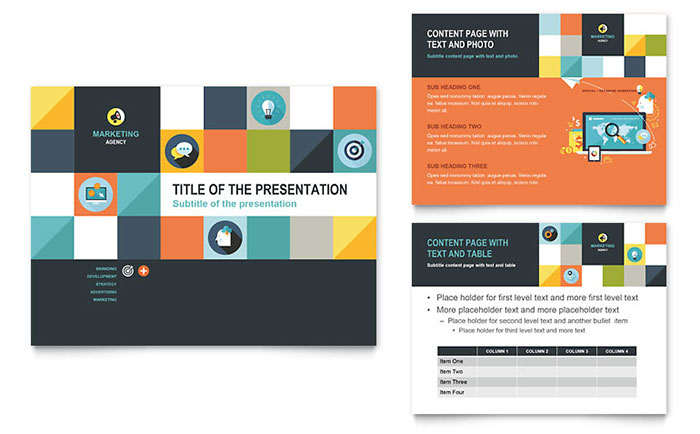 advertising company powerpoint presentation template design, Powerpoint templates