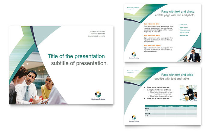 Business training powerpoint presentation template design flashek Images