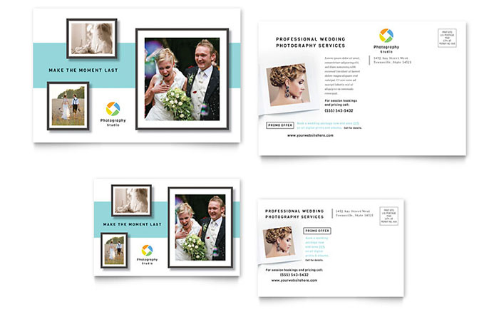 Photographer Postcard Template Design - Photography postcard template