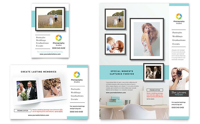 Photographer Flyer Ad Template Design - Photography ad template