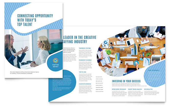 Brochure Templates | Employment Agency Brochure Template Design