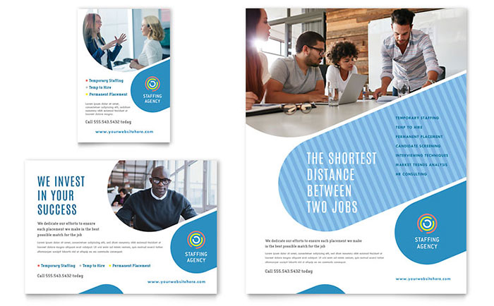 Employment Agency Flyer & Ad Template Design Download - InDesign, Illustrator, Word, Publisher, Pages