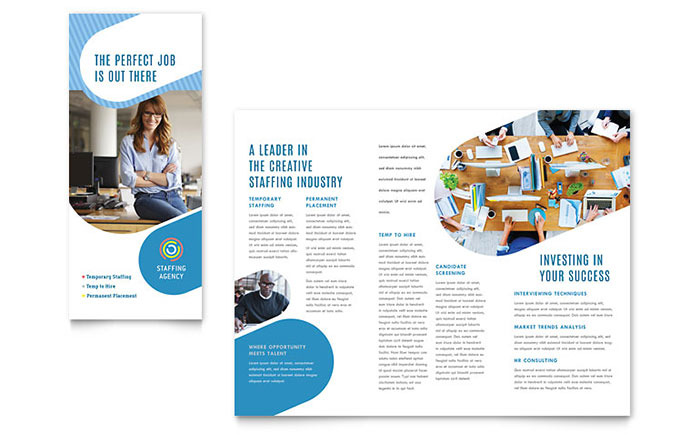 Employment Agency Brochure Design Example
