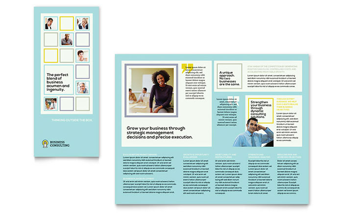 Business Consultants Tri Fold Brochure Template Download - InDesign, Illustrator, Word, Publisher, Pages