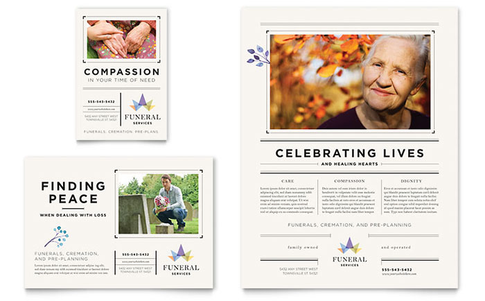 Memorial Funeral Services Flyers Templates Graphic Designs