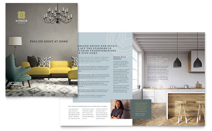 Interior design brochure template design for Interior design brochure