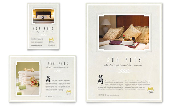 Pet Hotel Spa Brochure Template Design - Hotel brochure template