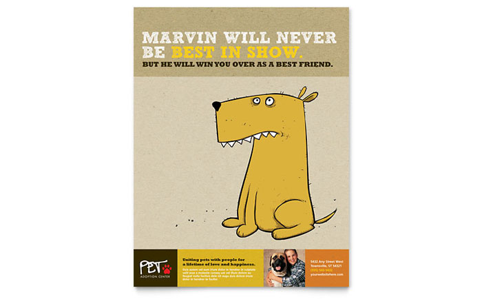 Animal Shelter Amp Pet Adoption Flyer Template Design