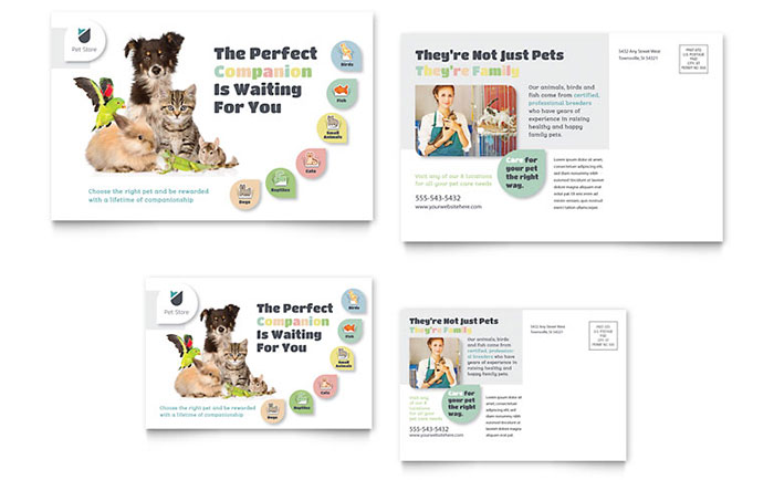 Pet Shop Marketing Brochures Flyers Business Cards