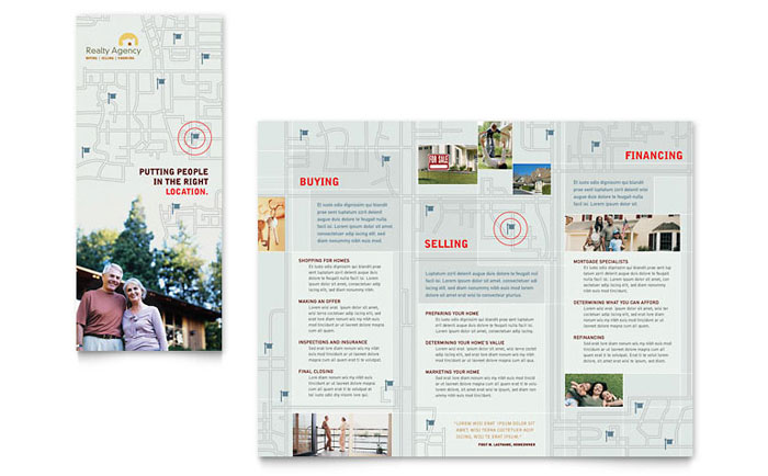 real estate agent realtor brochure template design