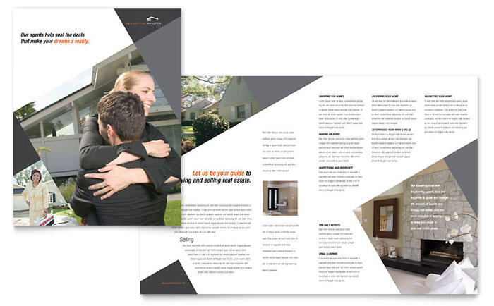 Contemporary modern real estate brochure template design for Property brochure template