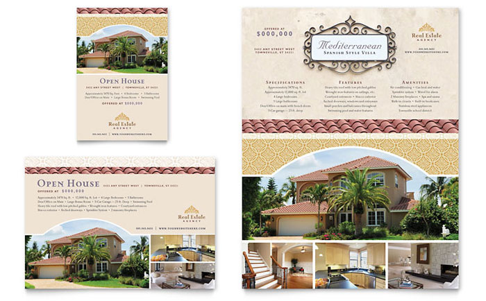 Luxury real estate flyer ad template design for Ad designs