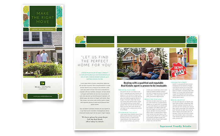 Real estate brochure template design for Property brochure template