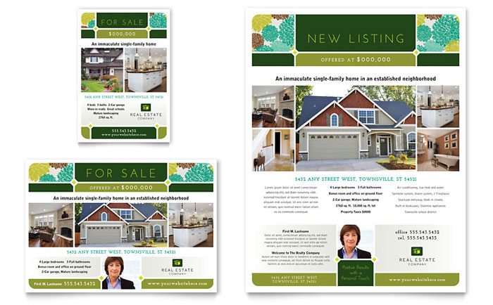 real estate flyer ad template design
