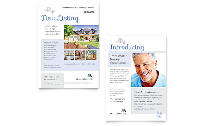 Real Estate Listing Announcement Template Design
