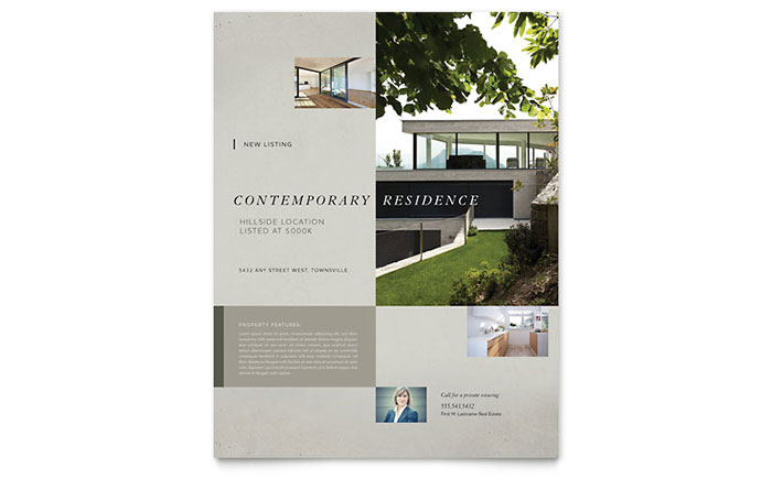 Real Estate Templates Brochures Flyers Newsletters - Property brochure template